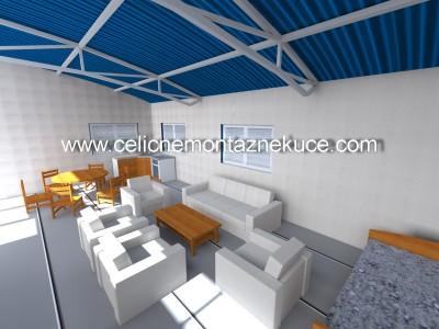 Čelične montažne kuće, montažne kuće, čelične konstrukcije, projektovanje, Kruševac, Srbija