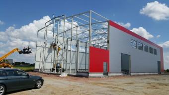 Čelične montažne hale i magacini, proizvodnja čeličnih konstrukcija, montaža čeličnih montažnih hala i magacina